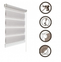 28 Roller blinds D&N / silver gray